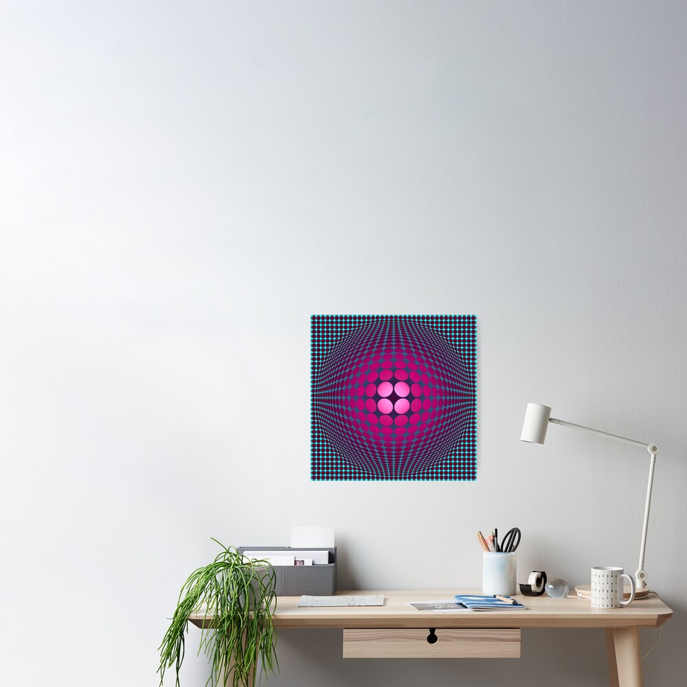 Victor Vasarely Homage 32 Poster