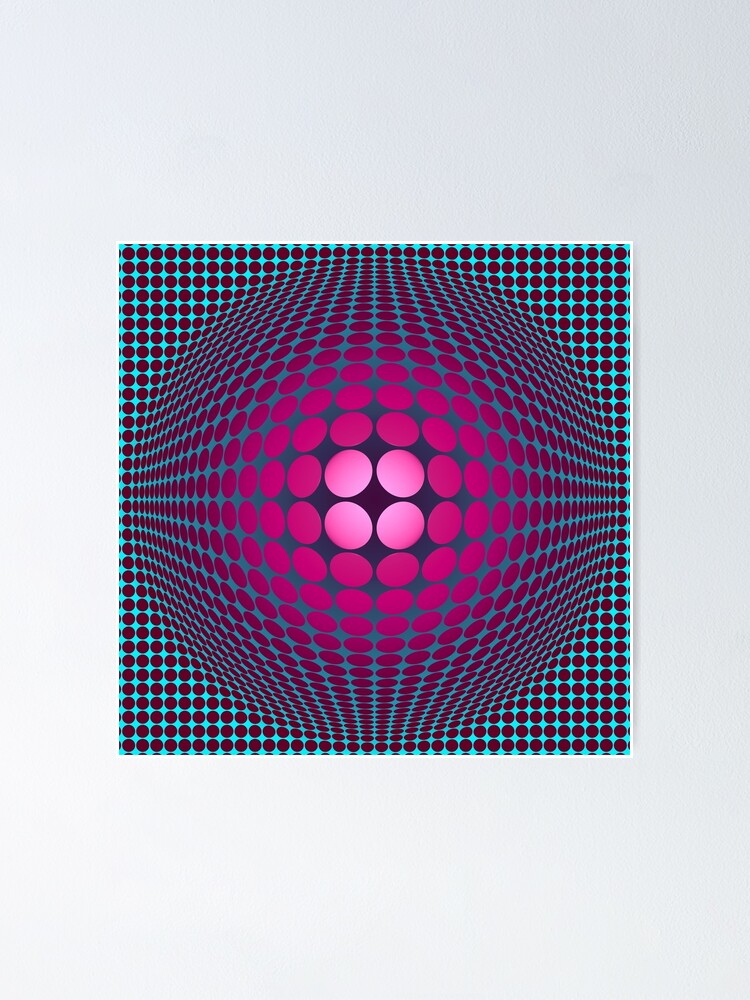 Alternate view of Victor Vasarely Homage 32 Poster