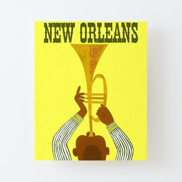 NEW ORLEANS ; Vintage Mardi Gras Print Canvas Mounted Print