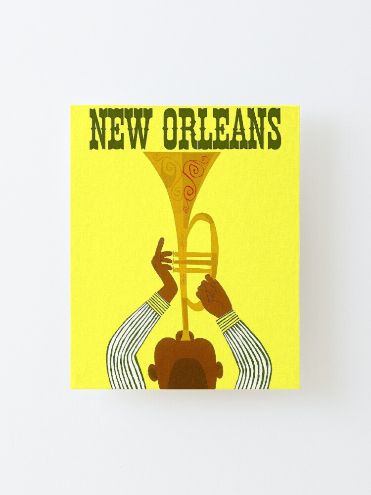 Alternate view of NEW ORLEANS ; Vintage Mardi Gras Print Mounted Print