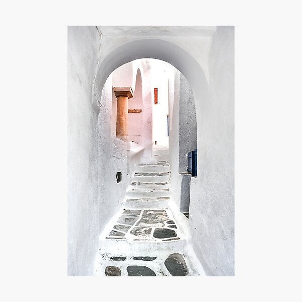 Sifnos island, castle, Greece Photographic Print
