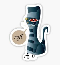 Grey Cat-astrophe ROFL Sticker