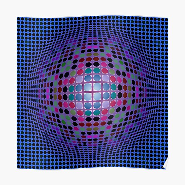 Victor Vasarely Homage 41 Poster
