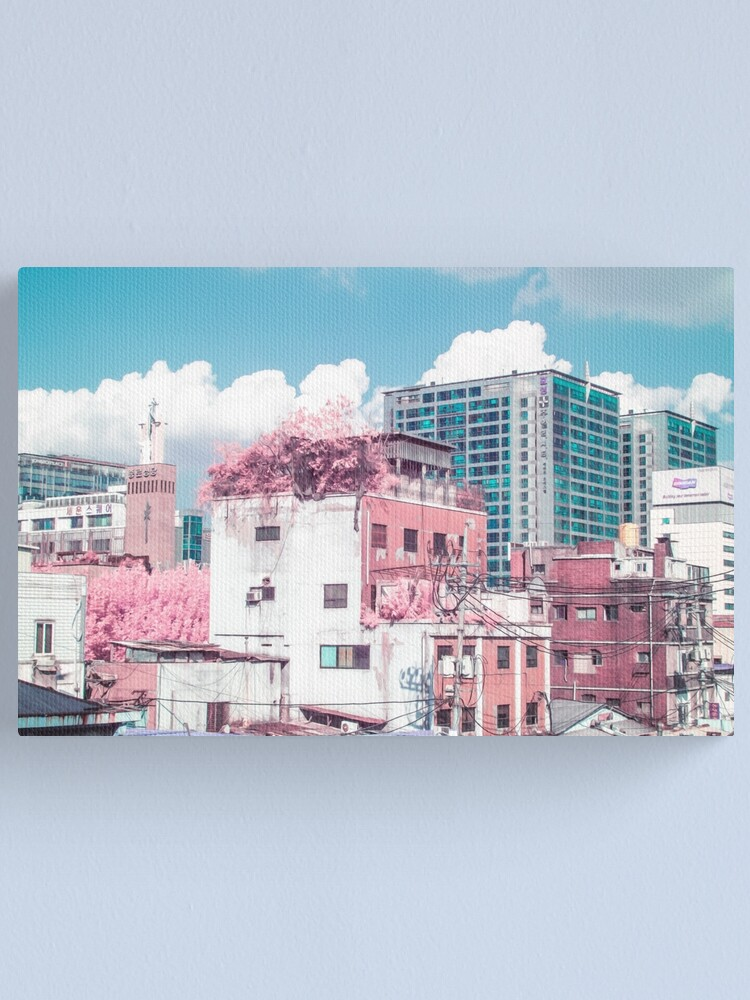 Alternate view of Seoul Anime World Canvas Print