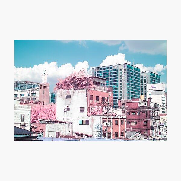 Seoul Anime World Photographic Print