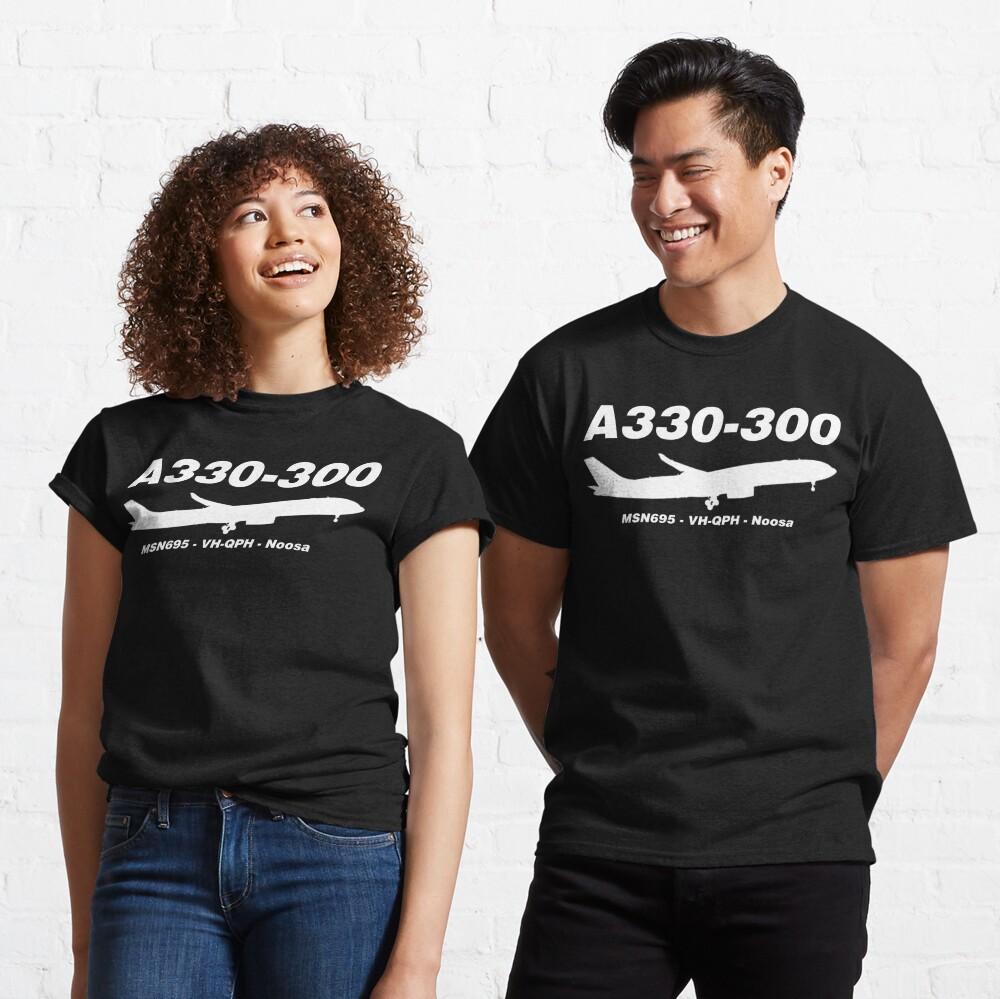 Airbus A330-300 695 VH-QPH (White)  Classic T-Shirt