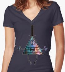 Spacey Mindscape Women's Fitted V-Neck T-Shirt