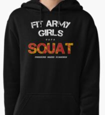 Fit Army Girls Squat Black/White/Red Pullover Hoodie