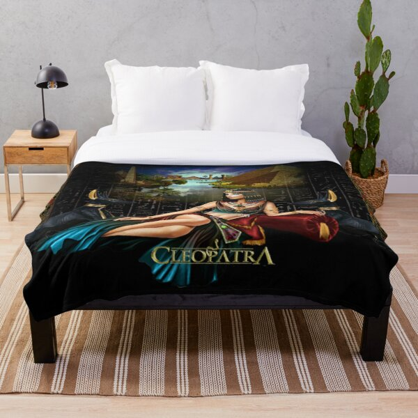 Cleopatra,Queen Of The Nile Throw Blanket