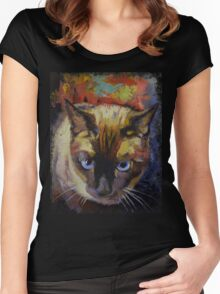 Seal Point Siamese Women's Fitted Scoop T-Shirt