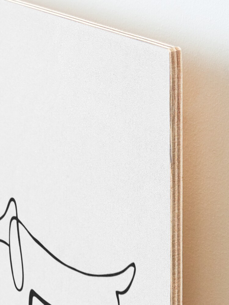 Alternate view of Pablo Picasso Line Art Wild Wiener Dog Dachshund Artwork Sketch black and white Hand Drawn ink Silhouette HD High Quality Mounted Print