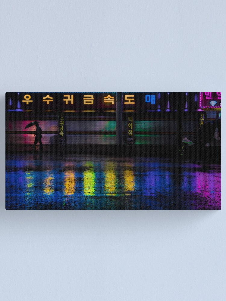 Alternate view of Seoul Rainy Reflections Canvas Print