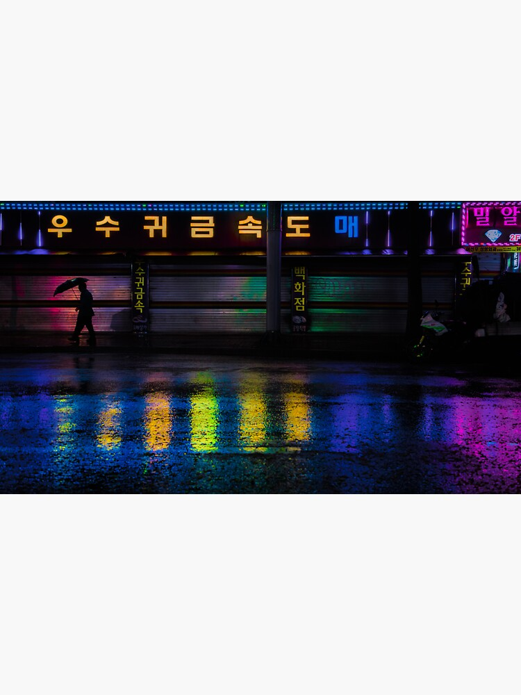 Seoul Rainy Reflections by noealz