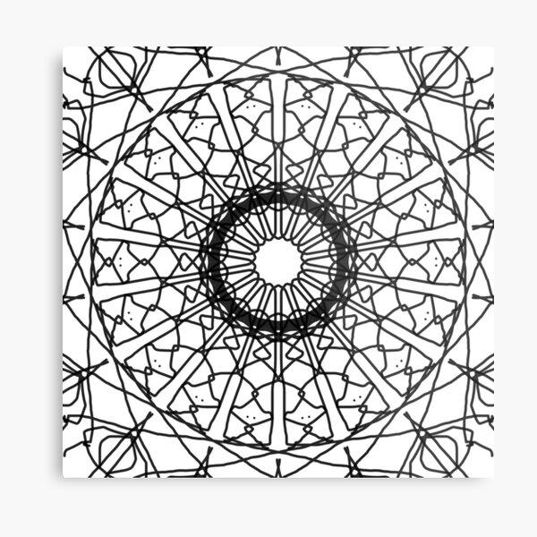 Simple Symmetry Metal Print