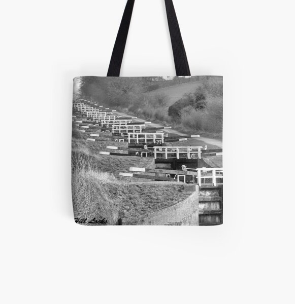 Caen Hill Locks  All Over Print Tote Bag