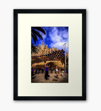 Spanish Street Dancers Framed Print