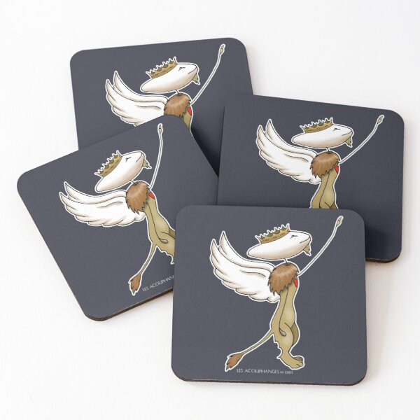 Acouphange Lion by D'Elfe Coasters (Set of 4)