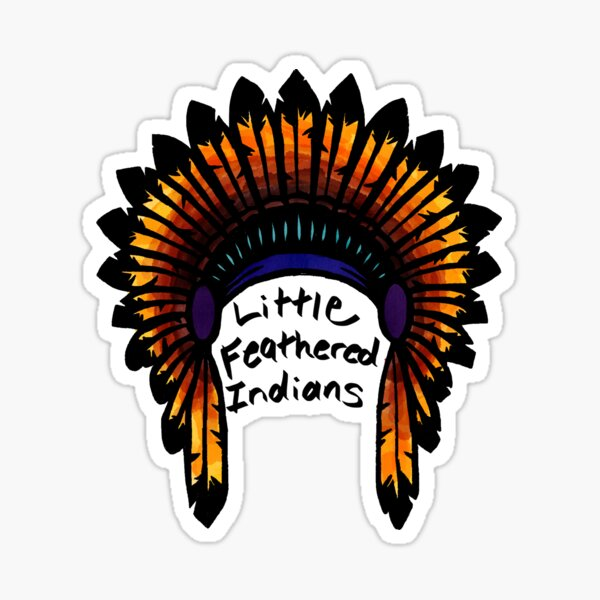 feathered Indians graphic Sticker