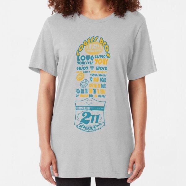 usa new york tshirt by rogers bros co Slim Fit T-Shirt