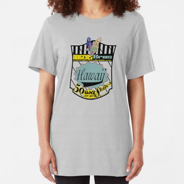 usa hawaii by rogers bros Slim Fit T-Shirt