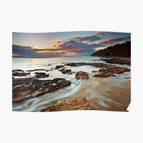Sunrise at Seven Mile Beach Tasmania #2 Poster