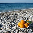 oranges on the beach by annet goetheer