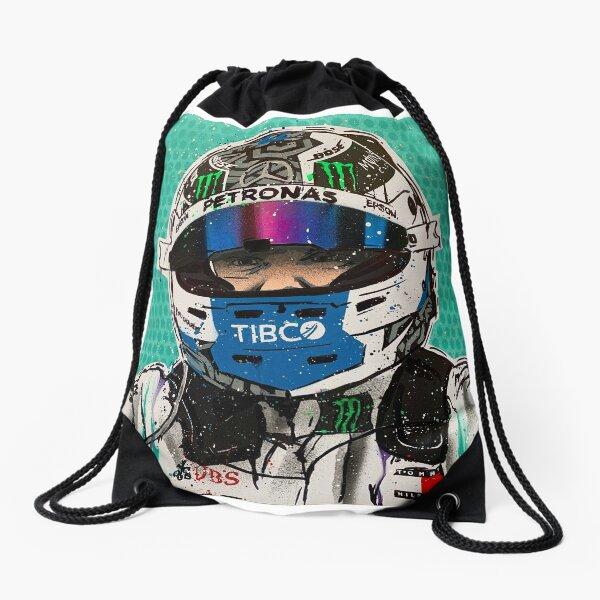 Valtteri Bottas 2019 F1 graffiti painting by DRAutoArt Drawstring Bag