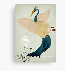 Soar flamingo! Canvas Print
