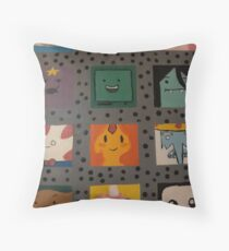 Character Squares Throw Pillow