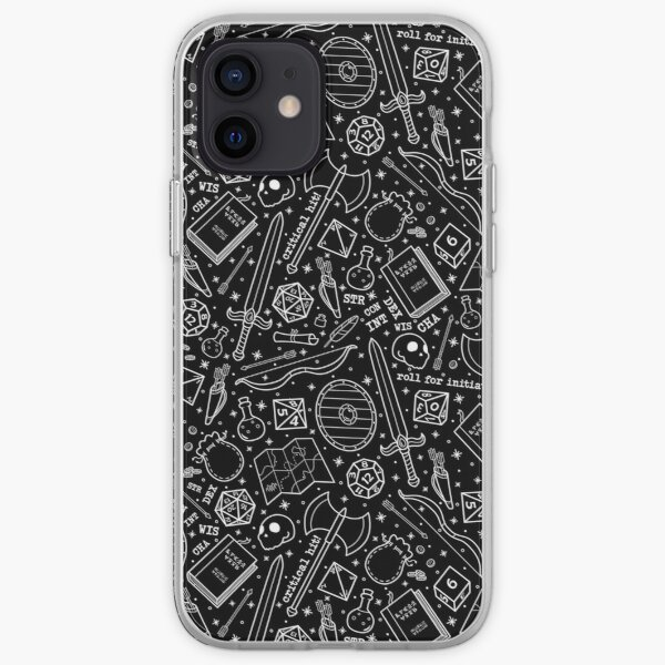 Fantasy RPG Pattern iPhone Soft Case