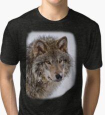 Wolf Shirt - 5 Tri-blend T-Shirt