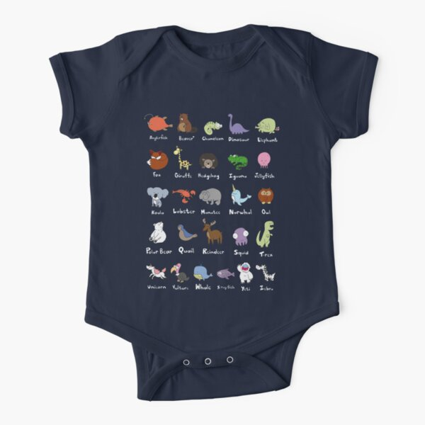 The Animal Alphabet Short Sleeve Baby One-Piece