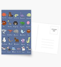 The Animal Alphabet Postcards