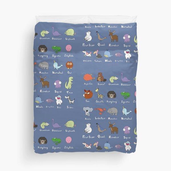 The Animal Alphabet Duvet Cover