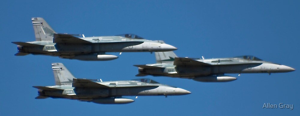 Hornets come in Threes by Allen Gray