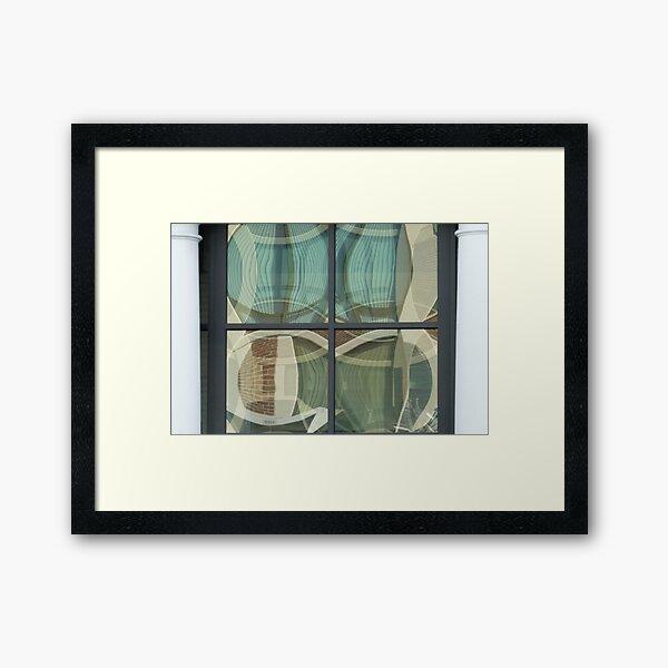Between the Pillars Framed Art Print