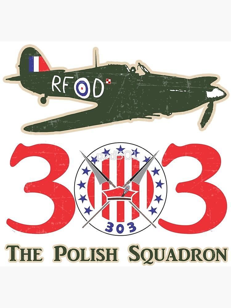 "No.303 Polish Fighter Squadron RAF Hurricane"" Postcard by pzd501 ..."