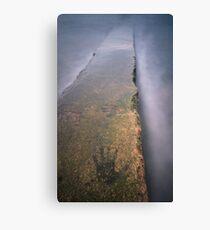 Watermarks - Lamlash pier. Canvas Print