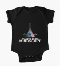 Welcome to The Mindscape -Spacey Short Sleeve Baby One-Piece