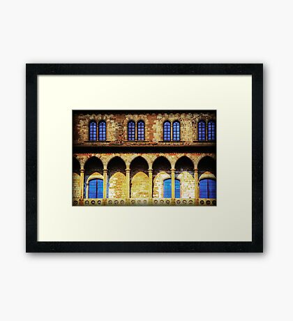 Fortified Arches Framed Print
