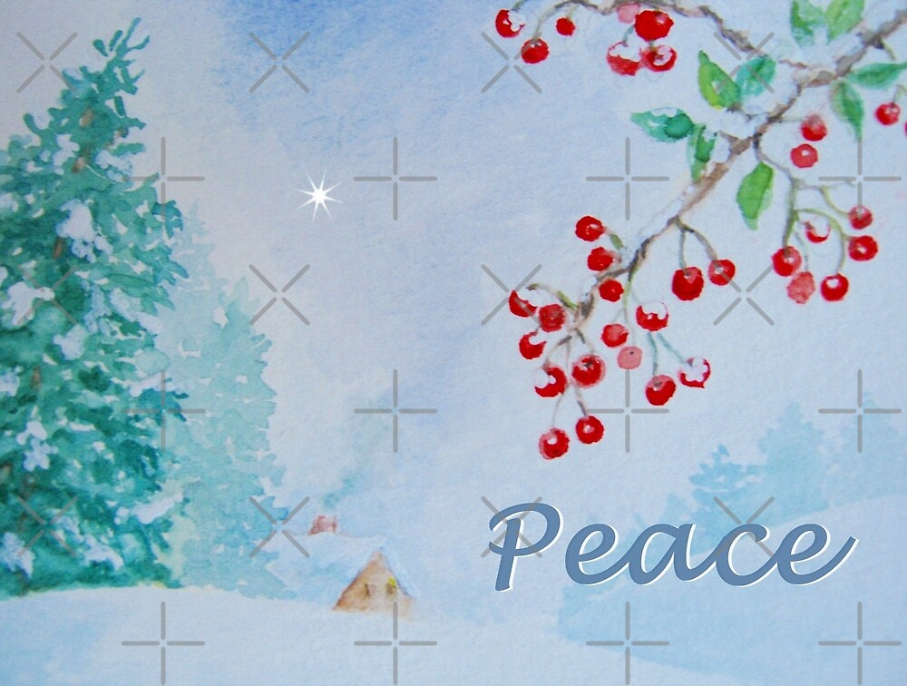 Peace - Snow on the Berries by LeisureLane1