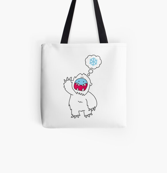 Snow Monster All Over Print Tote Bag