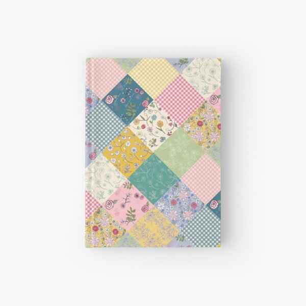 Spring cottage patchwork diamond quilt by Tea with Xanthe Hardcover Journal
