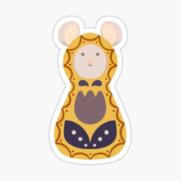 Woodland Adventure Doll Yellow Mouse Sticker Sticker