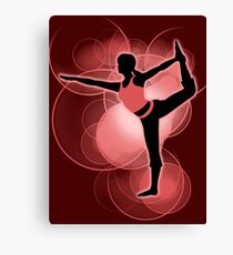 Super Smash Bros. Red Wii Fit Trainer (Female) Silhouette Canvas Print