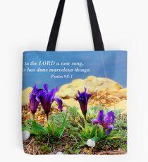 Spring on sea rocks  Tote Bag