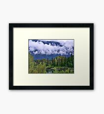 First Snow in the Flathead Framed Print