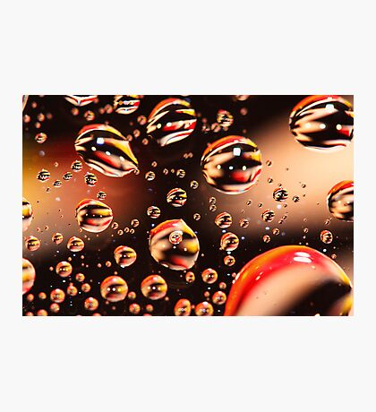 Floating Water droplets Photographic Print