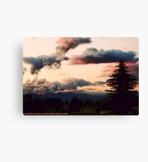 Big Mountain Evening Canvas Print