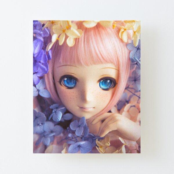 Hydrangeas · Melocotón Canvas Mounted Print